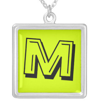 Neon Yellow, High Visibility Pendant Necklace