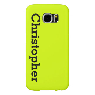 Neon Yellow, High Visibility Personalized Samsung Galaxy S6 Cases