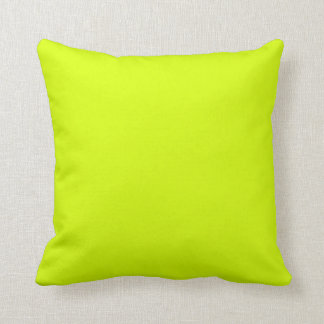 Neon Yellow, High Visibility Pillow