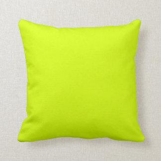 Neon Yellow, High Visibility Throw Pillows