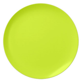 Neon Yellow, High Visibility Dinner Plate