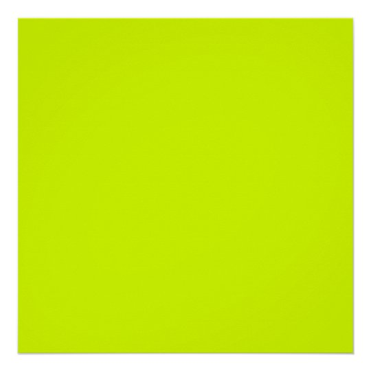 Neon Yellow, High Visibility Poster