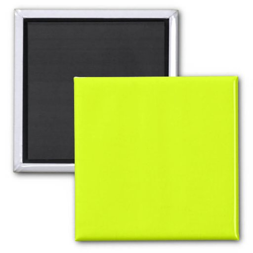Neon Yellow, High Visibility Refrigerator Magnets