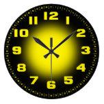 Neon Yellow Large Clock