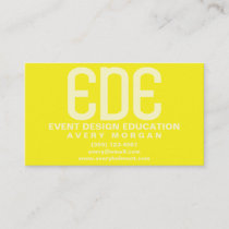Neon Yellow Minimal Business Card