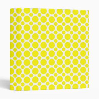 Neon Yellow Polka Dots 3 Ring Binder