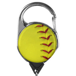 Neon Yellow Softball Badge Holder