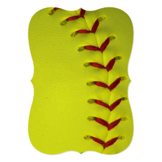 Neon Yellow Softball Card