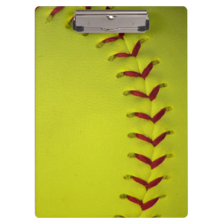 Neon Yellow Softball Clipboard
