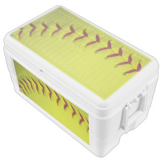 Neon Yellow Softball Cooler
