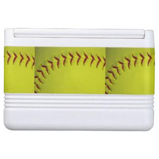 Neon Yellow Softball Drink Cooler