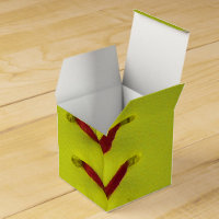 Neon Yellow Softball Favor Box