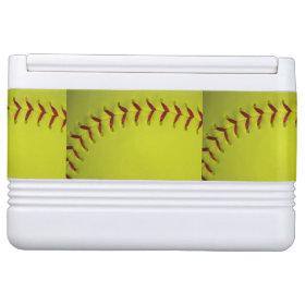 Neon Yellow Softball Igloo Drink Cooler