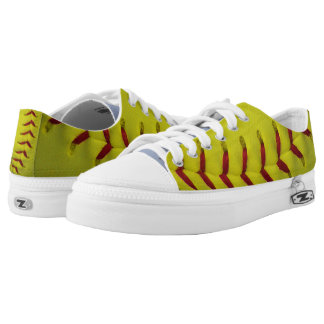 Neon Yellow Softball Low-Top Sneakers