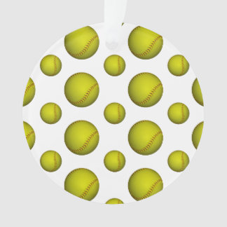 Neon Yellow Softball Pattern