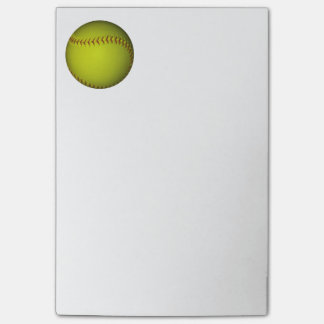 Neon Yellow Softball Post-it Notes
