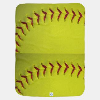 Neon Yellow Softball Receiving Blanket
