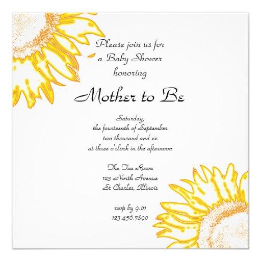 174 sunflower baby shower invitations sunflower baby shower