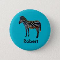 Neon Zebra Button