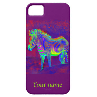 neon zebra iphone 5 protector iPhone 5 case