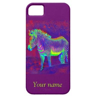 neon zebra iphone 5 protector iPhone SE/5/5s case