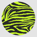 Neon Zebra Sticker