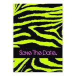 "Neon Zebra Sweet 16 Invitation 5"" X 7"" Invitation Card"