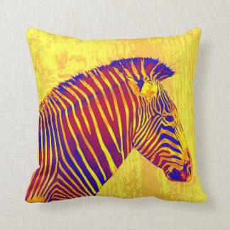 neon zebra- yellow, red pillows