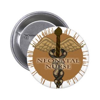 NeoNatal Nurse Caduceus 2 Inch Round Button