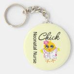 Neonatal Nurse Chick v2 Basic Round Button Keychain