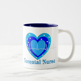 Neonatal Nurse Coffee Mug with Puffy Blue Heart