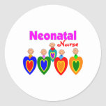 Neonatal Nurse Gifts---Adorable Babies on QRS Classic Round Sticker