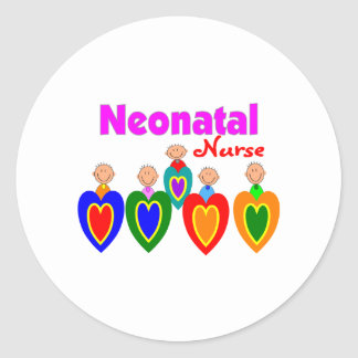 Neonatal Nurse Gifts---Adorable Babies on QRS Round Stickers