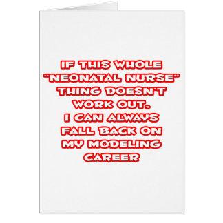 Neonatal Nurse Humor ... Modeling Career Card