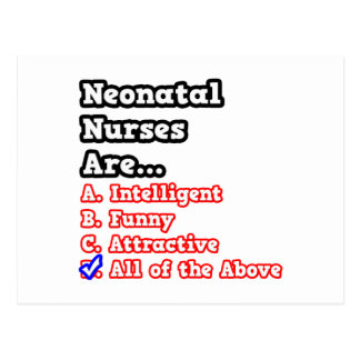 Neonatal Nurse Quiz...Joke Postcard