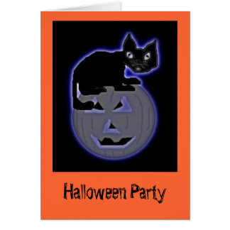 neonjackncat, Halloween Party Card