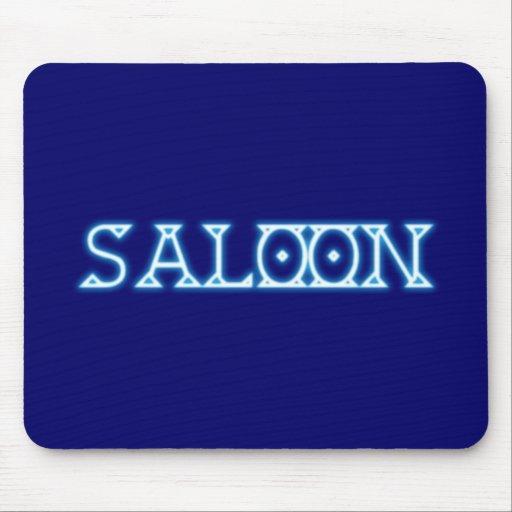 Neonreklame neon sign saloon alfombrilla de ratones