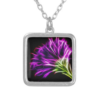 Neons aster square pendant necklace
