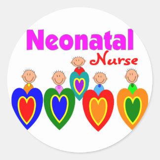Neontal Nurse--Adorable Baby Graphics Classic Round Sticker
