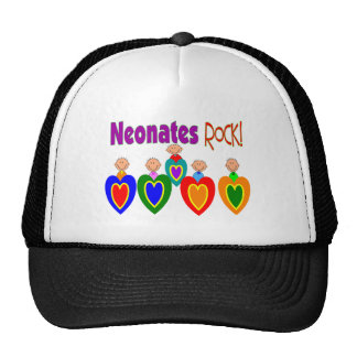 "Neontal Nurse Gifts ""Neonates ROCK!"" Hats"