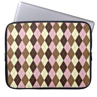 Neopolitan Argyle Laptop Sleeve