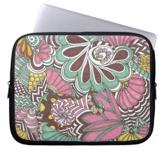 Neopolitan Flowers Laptop Sleeve