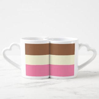 Neopolitan Ice Cream Coffee Mug Set