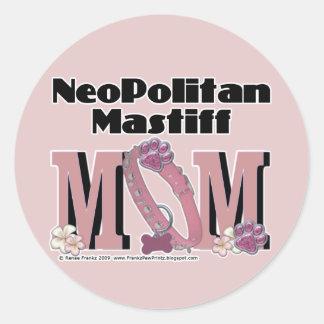 Neopolitan Mastiff MOM Classic Round Sticker