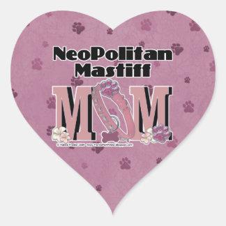 Neopolitan Mastiff MOM Heart Sticker