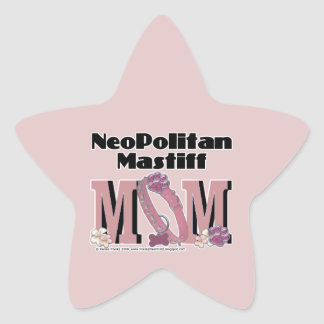 Neopolitan Mastiff MOM Star Sticker