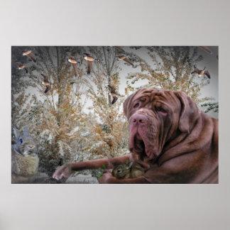 "Neopolitan Mastiff ""The Gentle Side"" Poster"