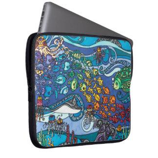 "Neoprene 15"" Laptop Sleeve: Under the Sea Series Computer Sleeve"
