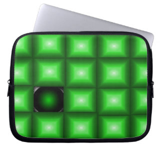 neoprene electronics case green optical illusion
