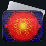 """Neoprene Laptop Sleeve 13 inch<br><div class=""""desc"""">The flower of life is the tip of the circle is split into a number of congruent elliptical Halo together. Repeat 7 times and rotate outward, creating &quot;cells&quot; pattern. And every 8th Division is a new outward rotation, and so on, until an unlimited number of times, creating a matrix. Although...</div>"""